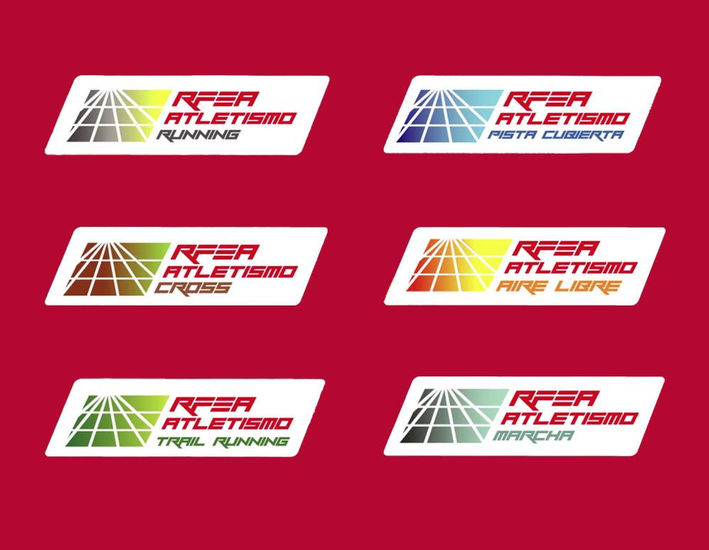 Seis variantes del nuevo logotipo de la RFEA